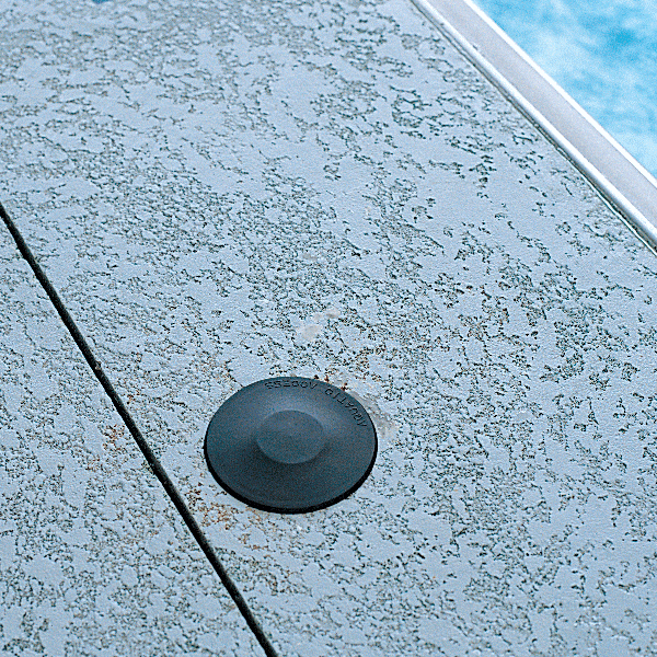 Recessed Socket Cover for Aquatic Access Water Powered Pool Lifts