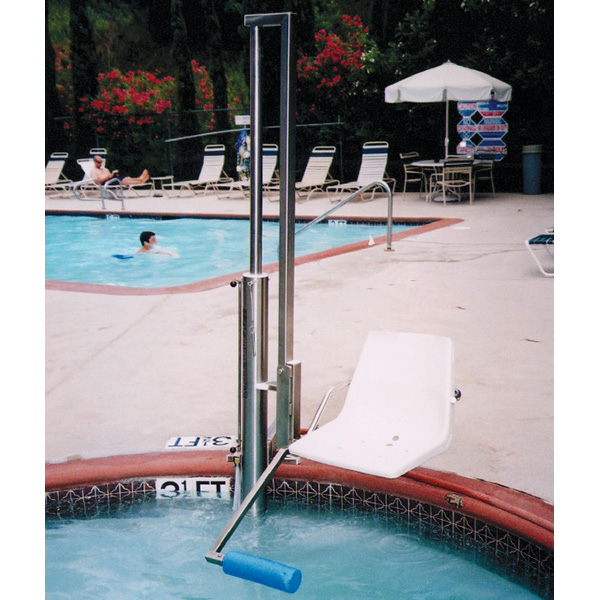 Aquatic access ada compliant swimming pool lift igat 180 135 for California private swimming pool code