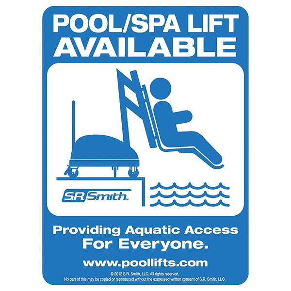 Pool Lift Available Sign