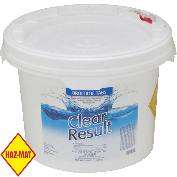 25 pound pail tablet bromine swimming pool sanitizer