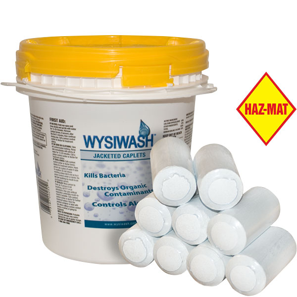Wysiwash sanitizer cleaning systems provide EPA-registered levels of active chlorine killing algae, microorganisms, fungi and viruses.