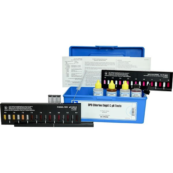 Taylor Technologies DPD Chlorine High pH Slide Pool Test Kit K-1765H