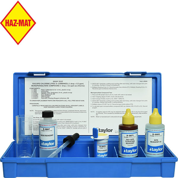 Taylor Technologies Monopersulfate Swimming Pool Test Kit