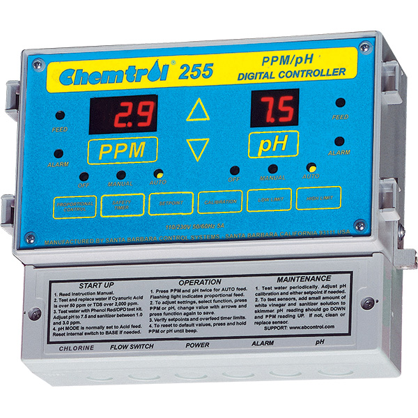 chemtrol 255 ppm ph digital swimming pool chemical controller. Black Bedroom Furniture Sets. Home Design Ideas
