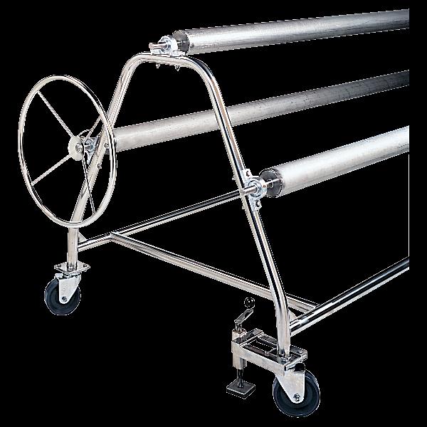 Recreonics Stainless Steel Swimming Pool Cover Storage Reel