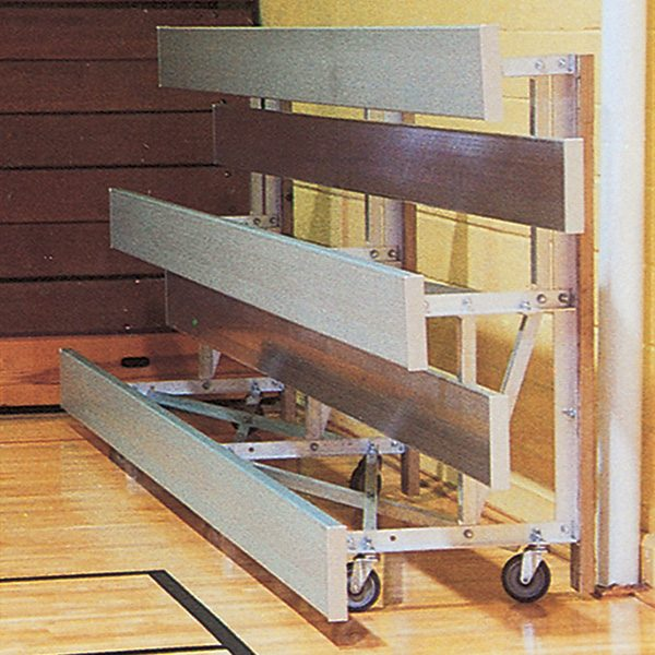 Tip-and-Roll Portable Anodized Aluminum Bleacher