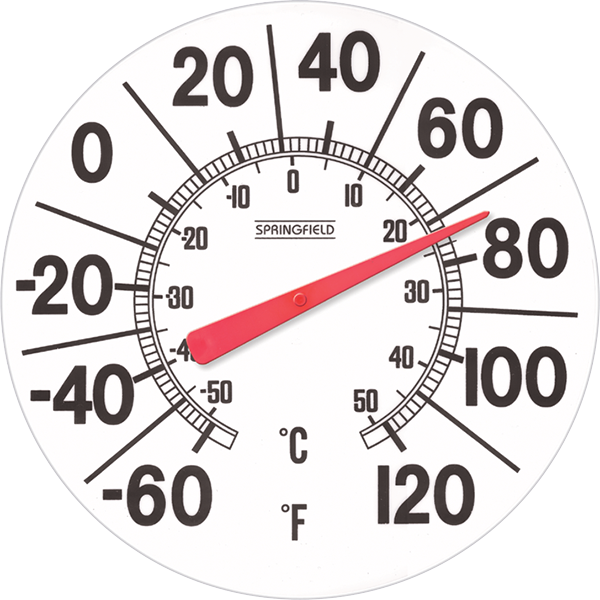 Big And Bold Patio Thermometer