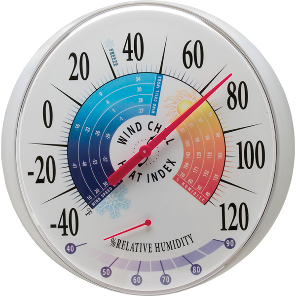 Oversized Wall Mounted Wind Chill Heat Index Thermometer