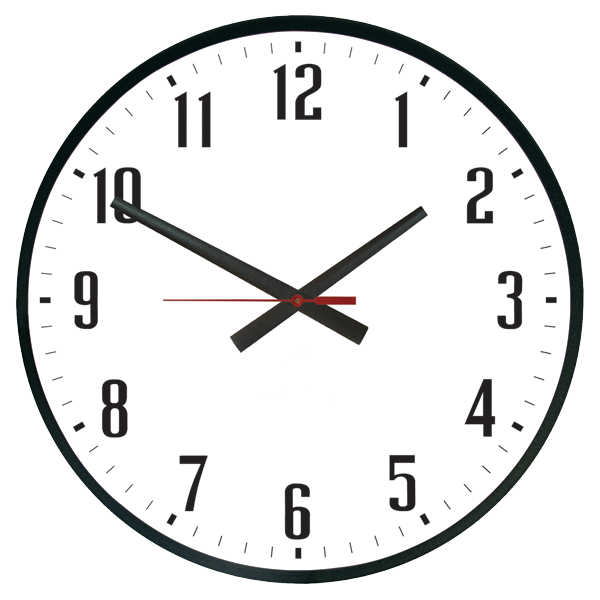 Weather Resistant Powder-Coated Finish Outdoor Clocks