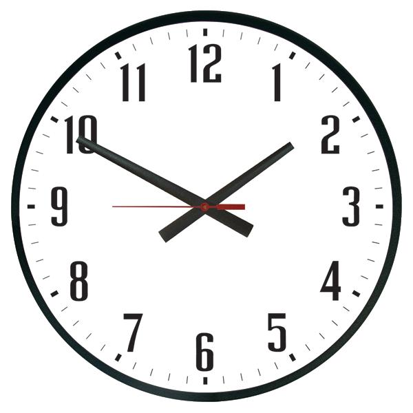 Superbe 15u2033 Weather Resistant Electric Outdoor Clock