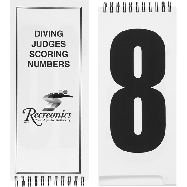 Diving Judges Flip-Style Dive Scoring Flash Cards