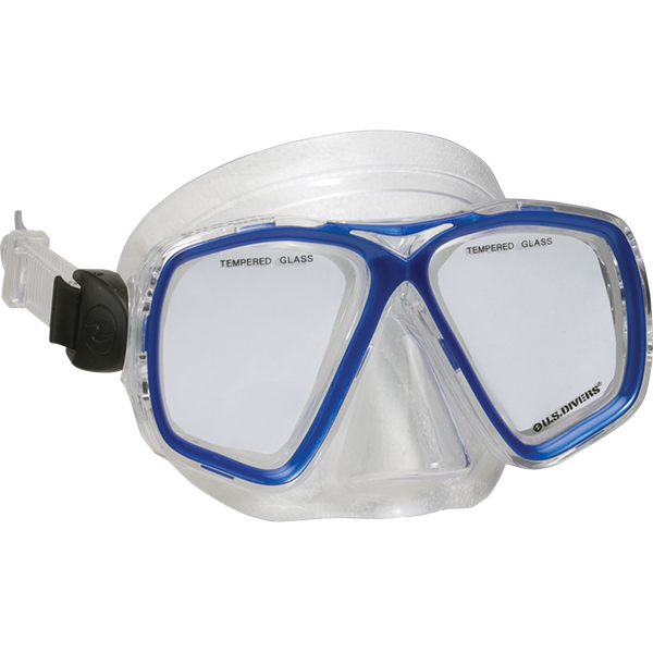 Two-Window Anacapa Dive Mask with Expanded Top-Bottom Viewing