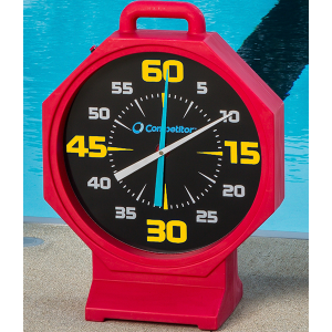 Competitor 15 inch Red Body-Black Face Battery Powered Pace Clock
