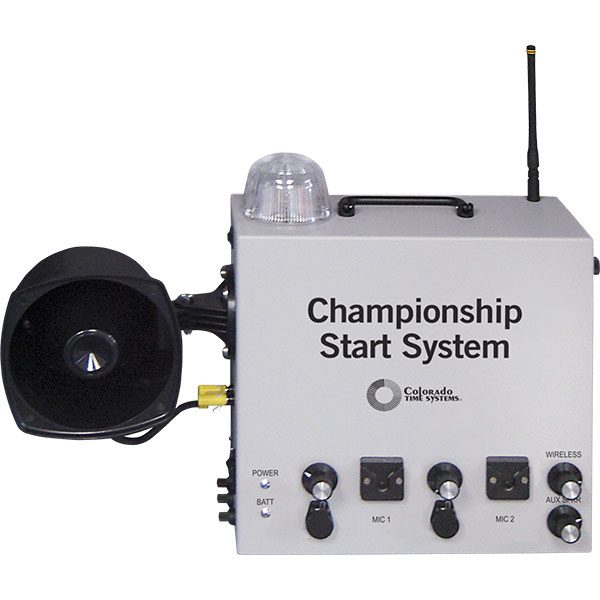 Colorado Time Championship Start System with Wired or Wireless Microphone