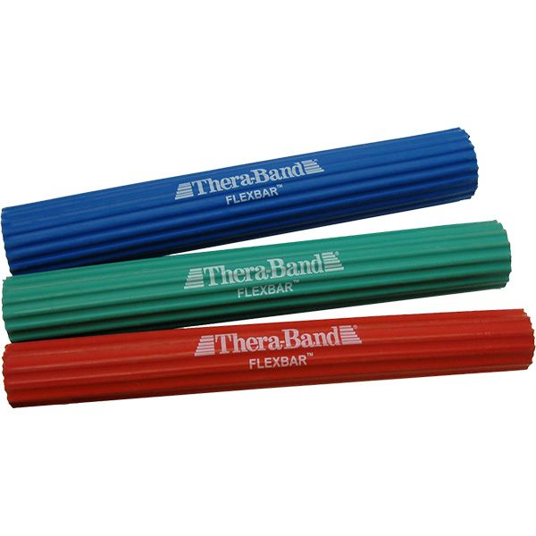 Thera-Band FlexBar Grip, Hand, Arm Strengthening Ribbed Rubber Therapy Bars
