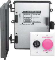 Commercial Pool-Spa Control System with Shut-Switch and Alarm