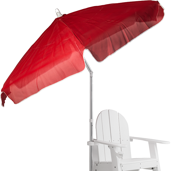 Recreonics Open Weave Textilene Lifeguard and Swimming Pool Umbrella