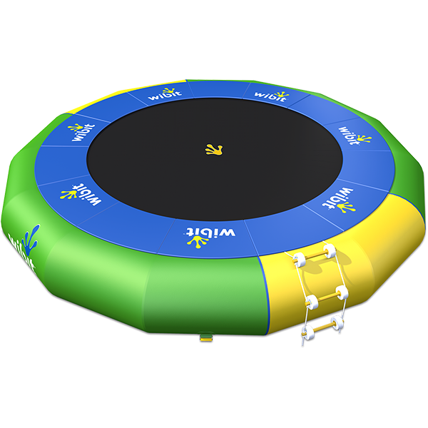 3-D rendering of Wibit Bouncer XXL stand alone inflatable play product.