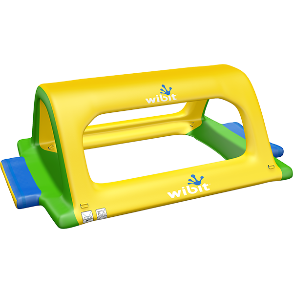 3-D rendering of Wibit Monkey Bars modular inflatable play product.