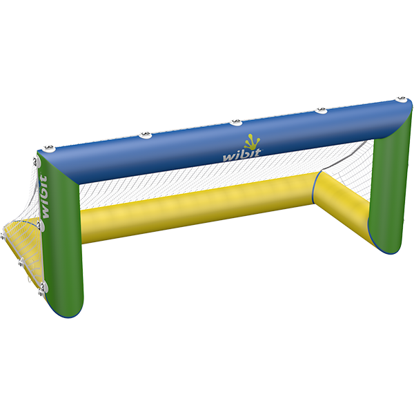 3-D rendering of Wibit Wibit Polo Goal stand alone inflatable play product.