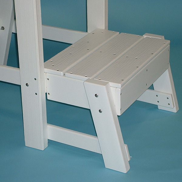 Footrest Platform Kit For The Tailwind Recycled Plastic Lifeguard Chair  LG500
