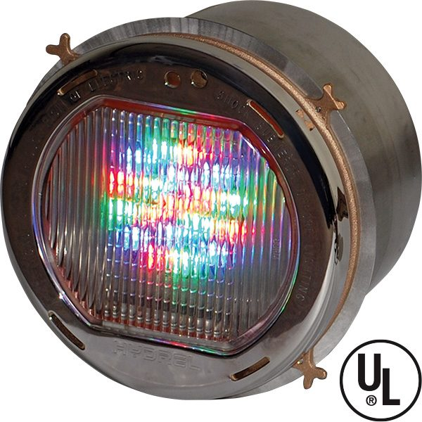 Hydrel Monochromatic LED Pool Light Model 4426 provides superior lumen maintenance and energy performance for use in wet-niche mounted swimming pool applications