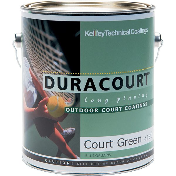 Duracourt acrylic latex tennis court paint stretches with weather changes.