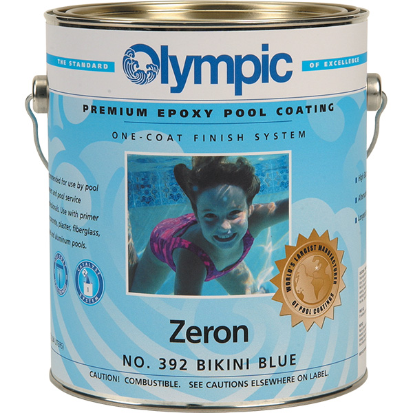 Olympic Zeron Epoxy Swimming Pool Paint - 4 gallons