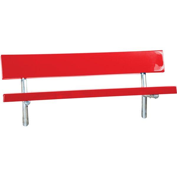 Permanent Outdoor-Indoor Fiberglass Bench with Back