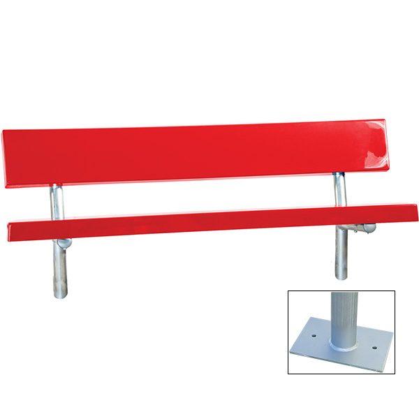 Permanent Fiberglass Bench with Back