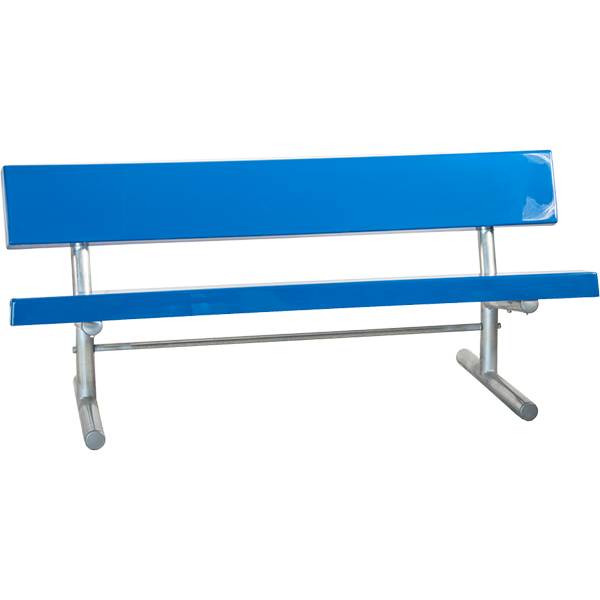 Portable Fiberglass Bench with Back