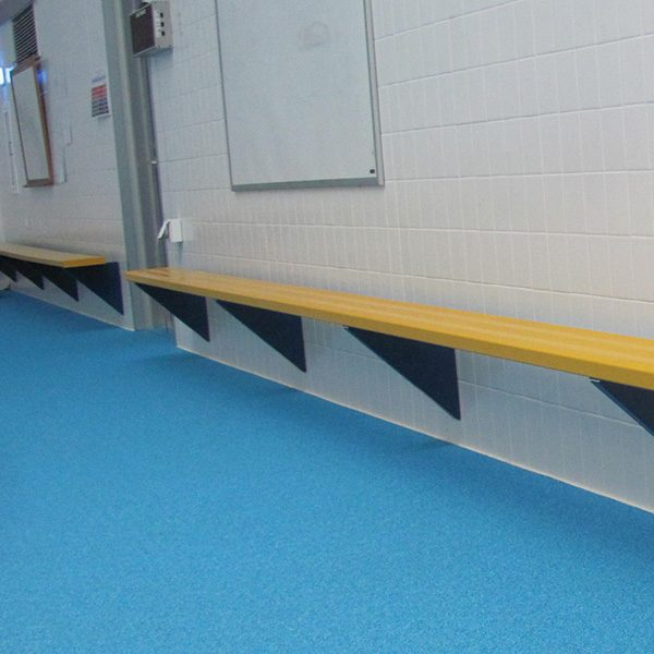 Wall Mounted Powdered Coated Non-Skid Aluminum Benches