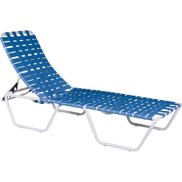 Texacraft Swimming Pool Furniture Nesting Cross-Weave Chaise Lounge
