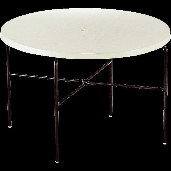 Texacraft Swimming Pool Furniture Fiberglass Top Umbrella Table