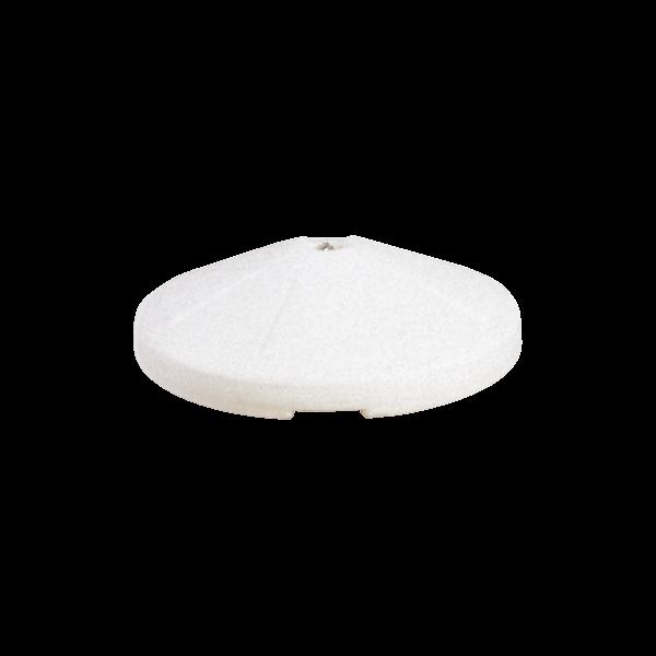Molded high density polyethylene umbrella base