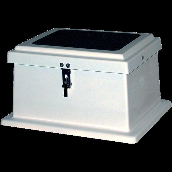 Model 100SD 1-Step Fiberglass Pool Equipment Deck Storage Box