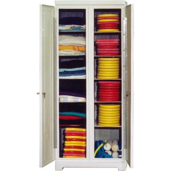 Towel-Gym Locker Combo Vertical Fiberglass Storage Locker