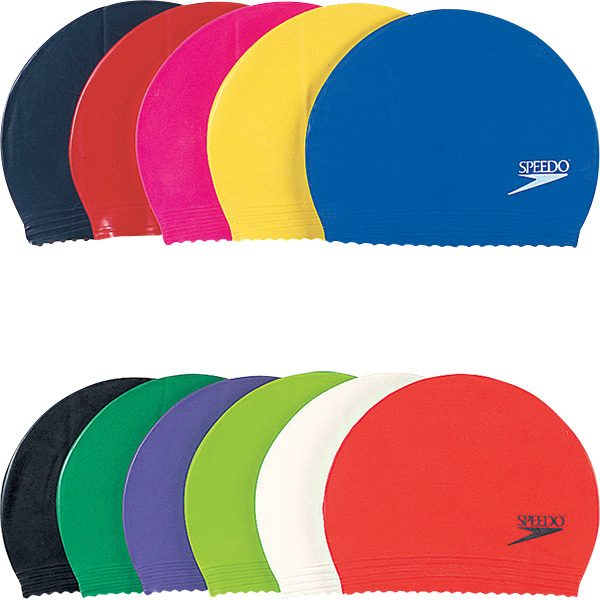 Speedo Color Lightweight Latex Swim Caps
