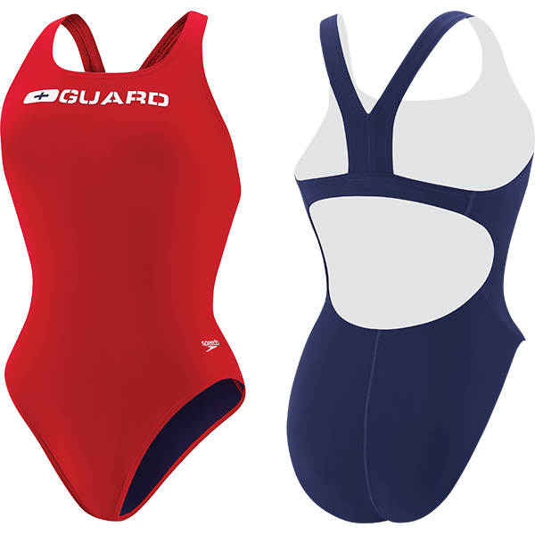 Speedo's Women's Super Pro Lifeguard one-piece swim suit is made of 51% PBT and 49% lightweight polyester fabric that resists snagging, sagging and fading.