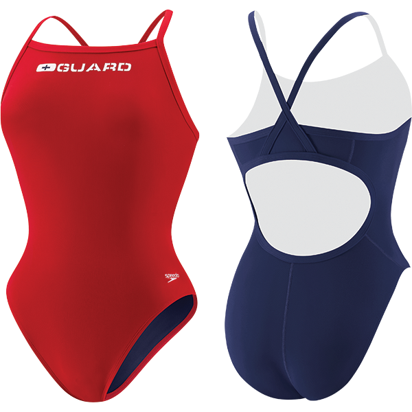 Speedo's Women's Flyback Lifeguard one-piece swim suit is made of 51% PBT and 49% lightweight polyester fabric that resists snagging, sagging and fading.