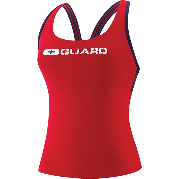 Speedo's women's Tankini lifeguard swim suit top is made of 51% PBT and 49% lightweight polyester fabric that resists snagging, sagging and fading.