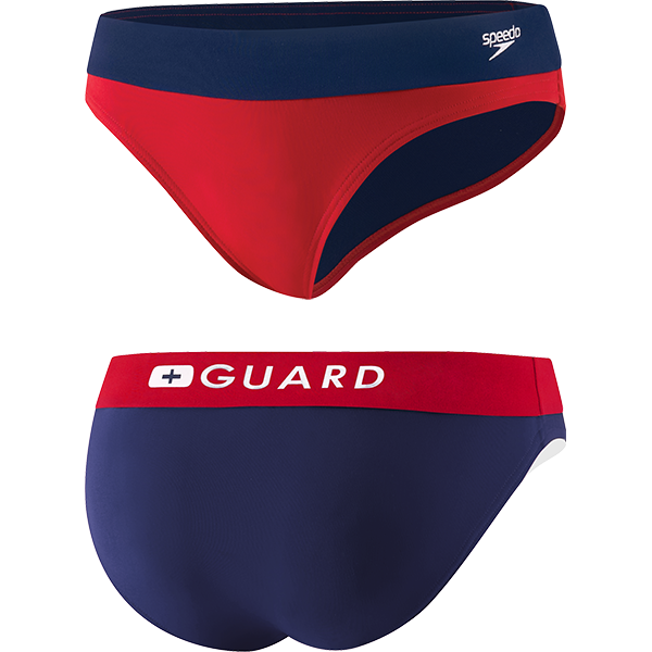 Speedo's women's lifeguard swim suit Hipster bottom is made of 51% PBT and 49% lightweight polyester fabric that resists snagging, sagging and fading.