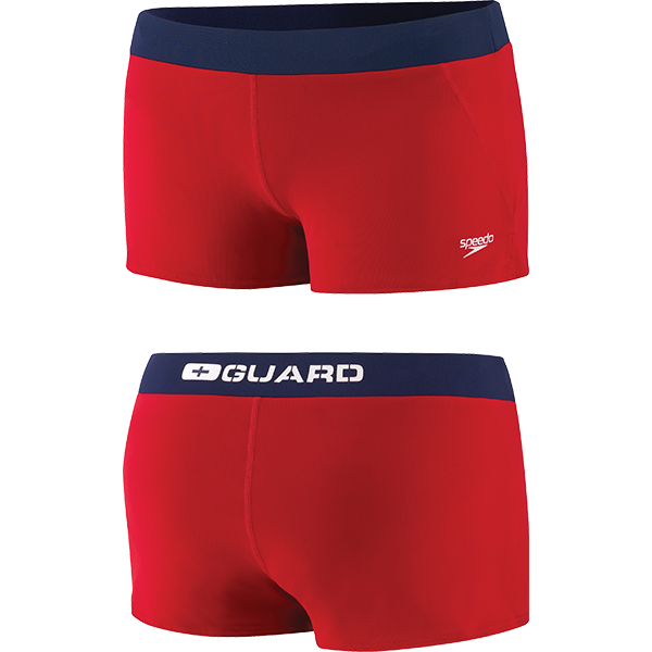 Speedo's women's lifeguard swim suit short is made of 51% PBT and 49% lightweight polyester fabric that resists snagging, sagging and fading.