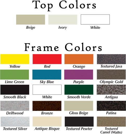 Texacraft Fiberglass Top Umbrella Top and Frame Color Options