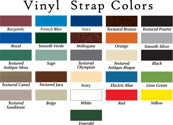 Texacraft Swimming Pool Furniture Vinyl Strap Color Options