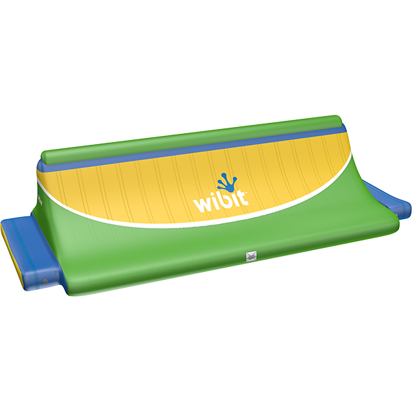 3-D rendering of Wibit Quarter Pipe modular inflatable play product.