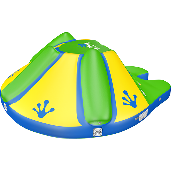 3-D rendering of Wibit Rodeo Splash stand alone inflatable play product.