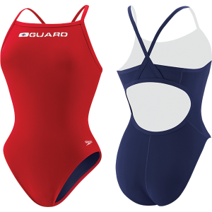 Speedo Womens Flyback Lifeguard Swim Suit