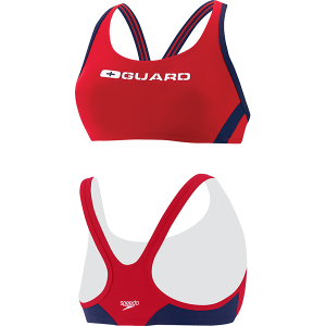 Speedo Womens Sport Bra Lifeguard Swim Suit Top