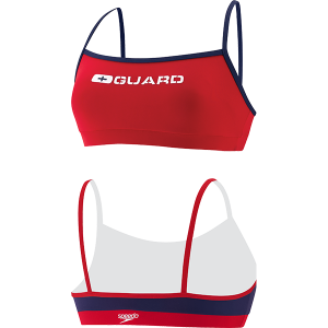 Speedo Womens Thin Strap Lifeguard Swim Suit Top